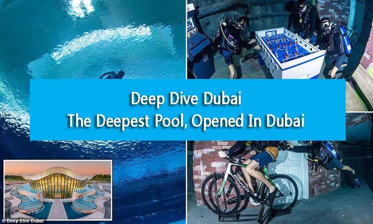 Deep Dive Dubai: The Deepest Pool, Opened In Dubai